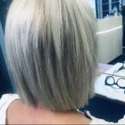 Sarah P's platinum hair